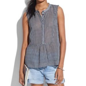 Madewell 'Shirtfront Tank in Gingham'